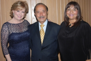 From the left to right: Laurie Gayle Stephenson, Broadway Star, Dr. Walter Janke and Mrs. Lalita Janke, Camp Haven Board President